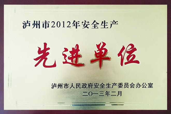 2012年度安全生产先进单位