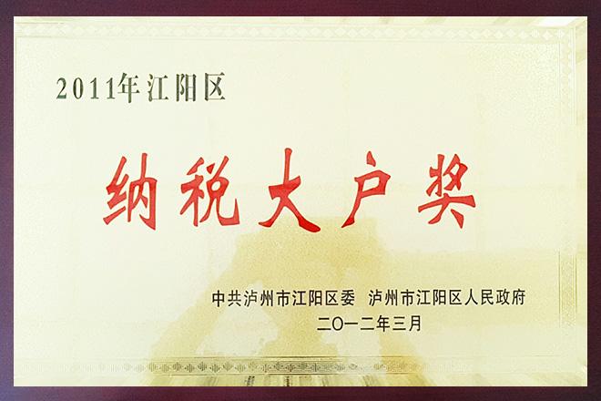 2011年江阳区纳税大户奖